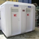 portable toilets, showers,