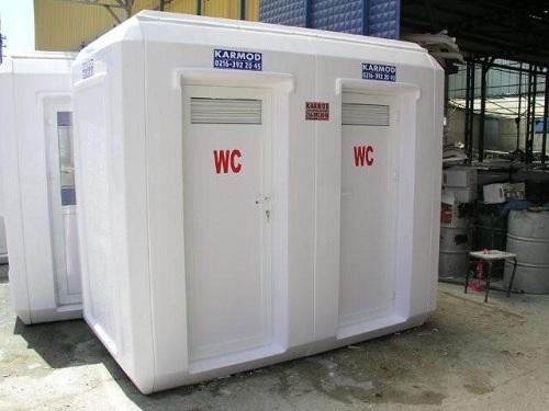 portable toilets, showers,