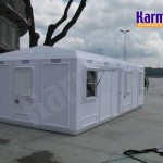 Cabins, offices, toilets, accommodation