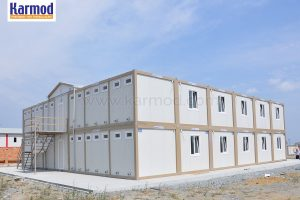 Prefabricated construction site structures