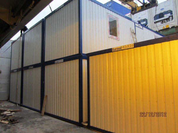 construction site containers