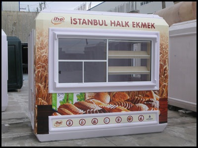 fast food booths