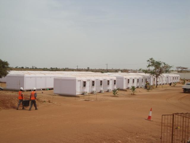 Modular mining camp buildings