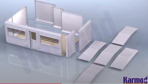 foldable portable buildings