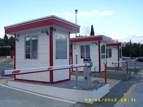 gatehouse security cabins