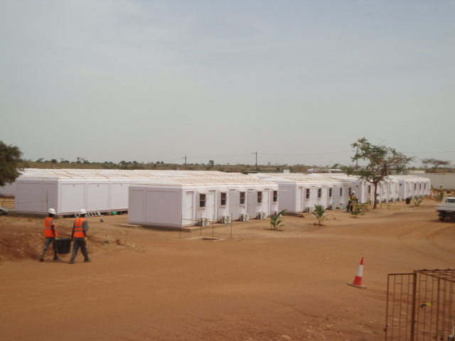 Remote mining construction camps