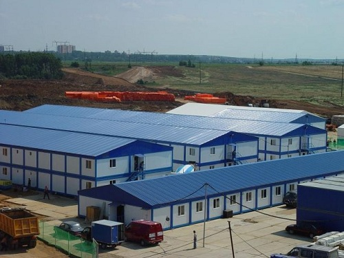 Prefabricated building in Kazakhstan