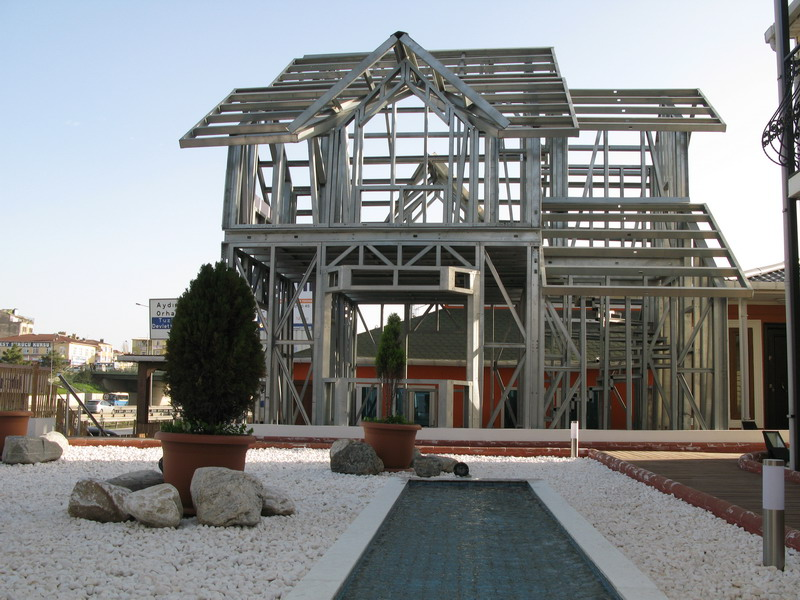 Light gauge steel frame buildings light steel villa houses karmod - Steel framing houses ...