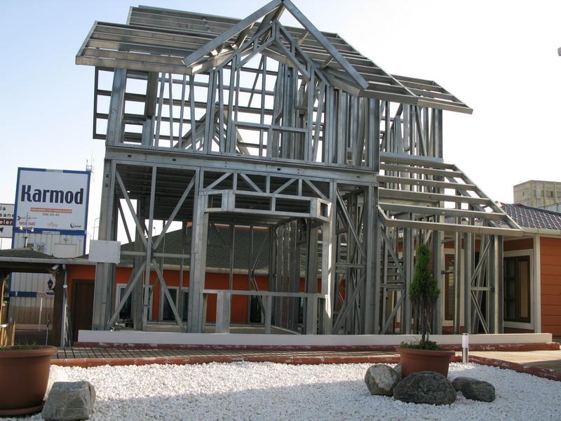 Light gauge steel frame buildings light steel villa houses karmod - Light frame house plans ...