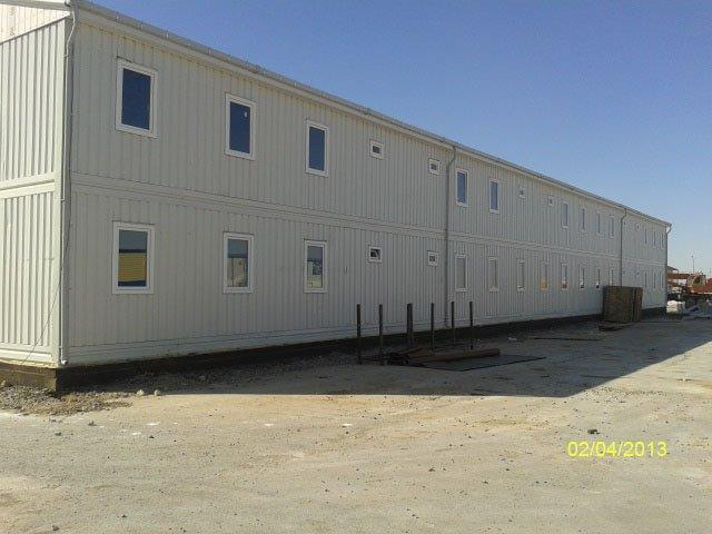 Flat pack container mining camp