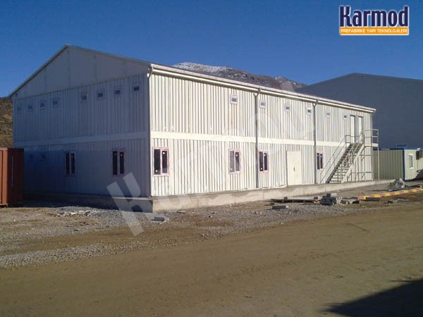 prefabricated building for worksite or labor camp
