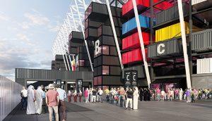 qatar stadium container
