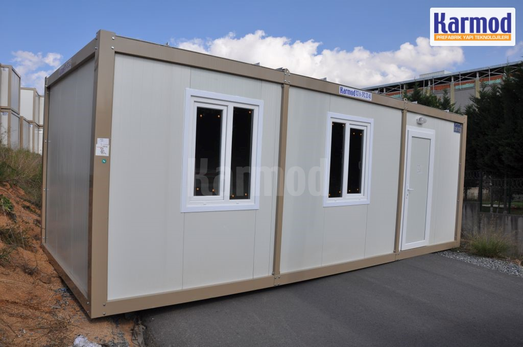 Demountable container living container house karmod for Construction container