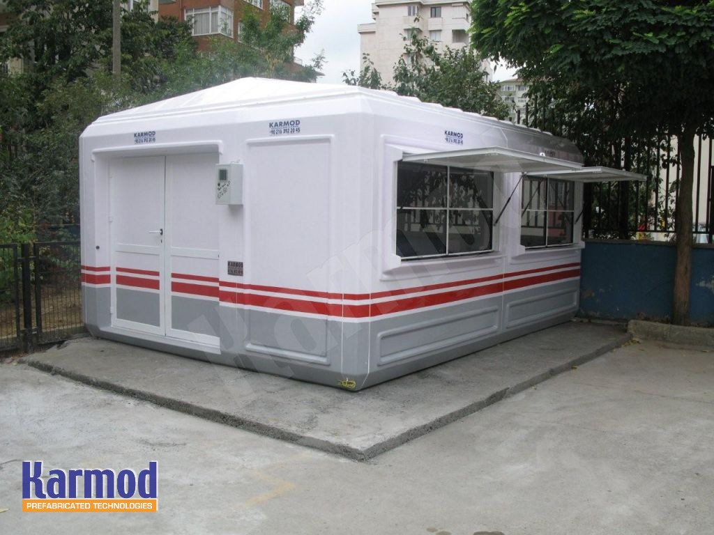 prefabricated gate houses
