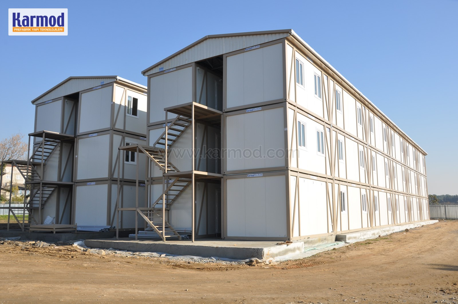 Containerised camp site buildings