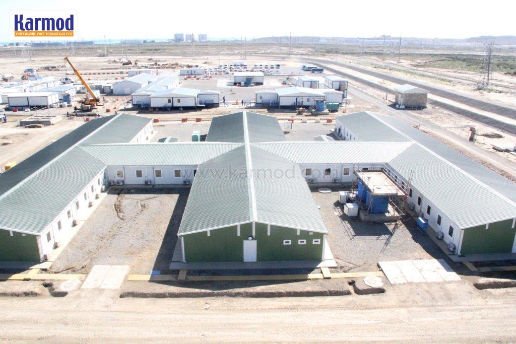 Modular barracks buildings