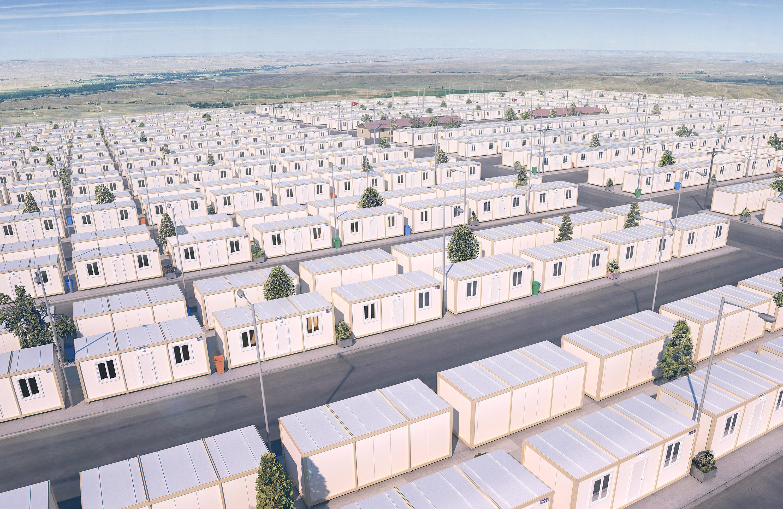 Container für Asylbewerber und Flüchtlinge