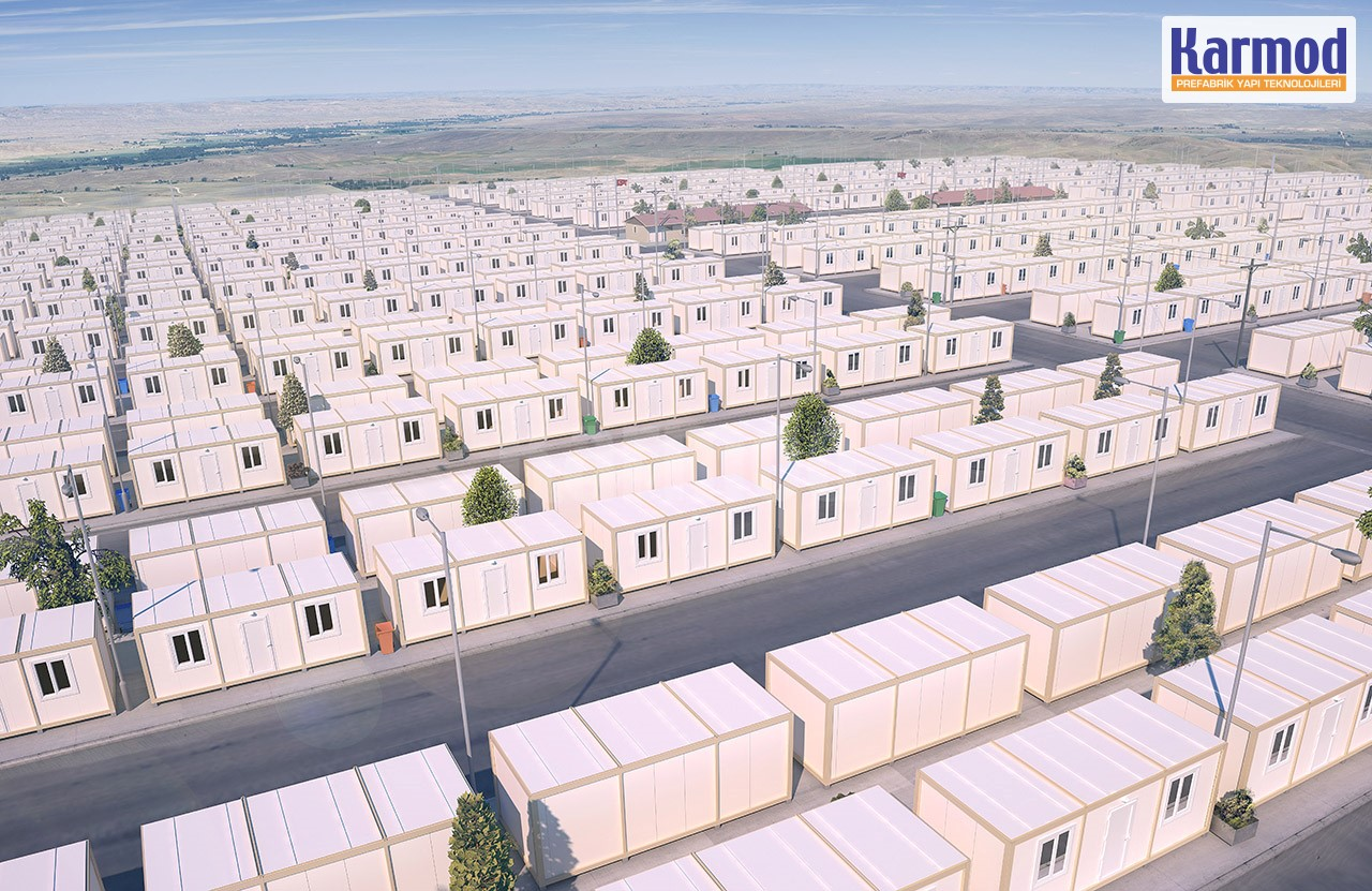 Container für Flüchtlinge