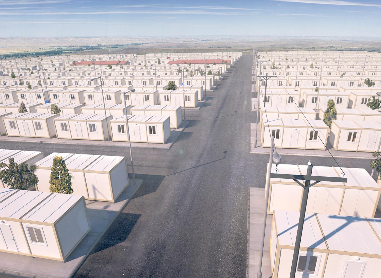 wohncontainer flüchtlinge