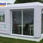 prefabricated parking booths