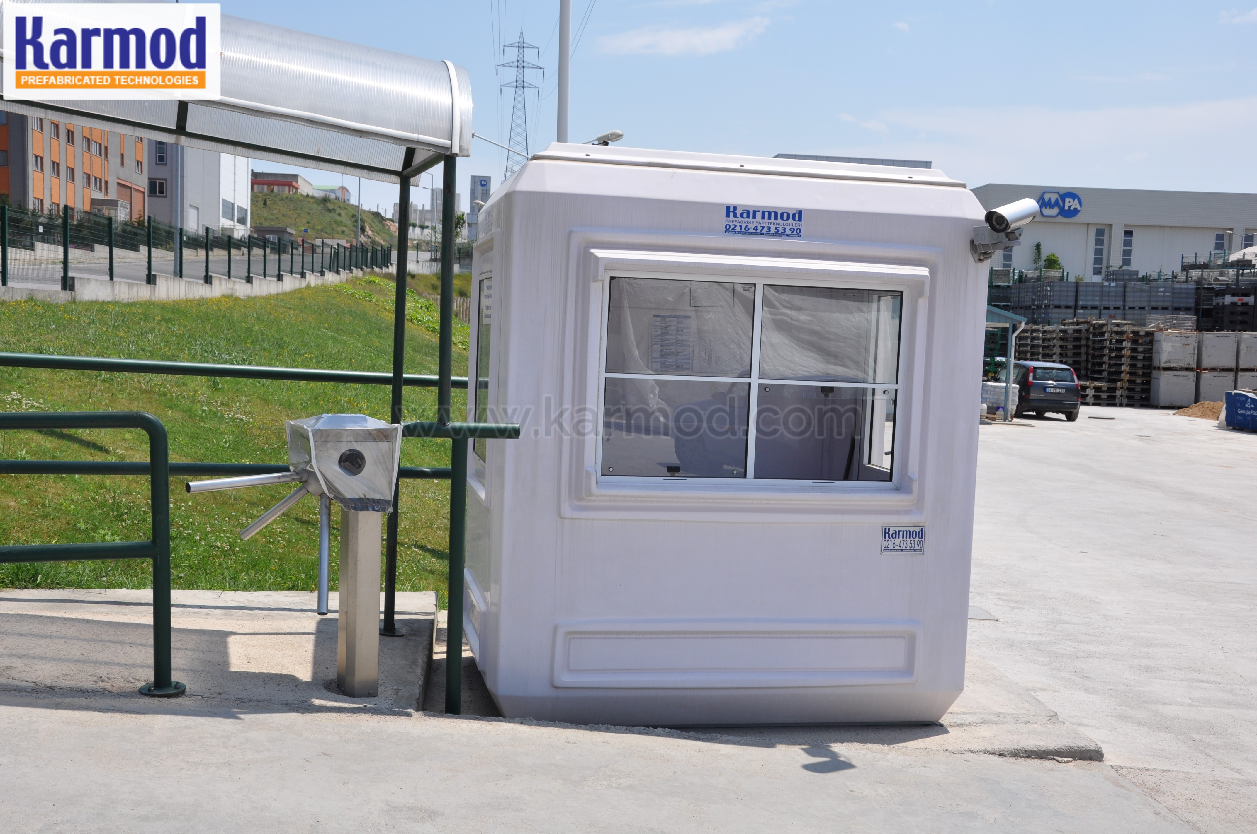 parking control booths