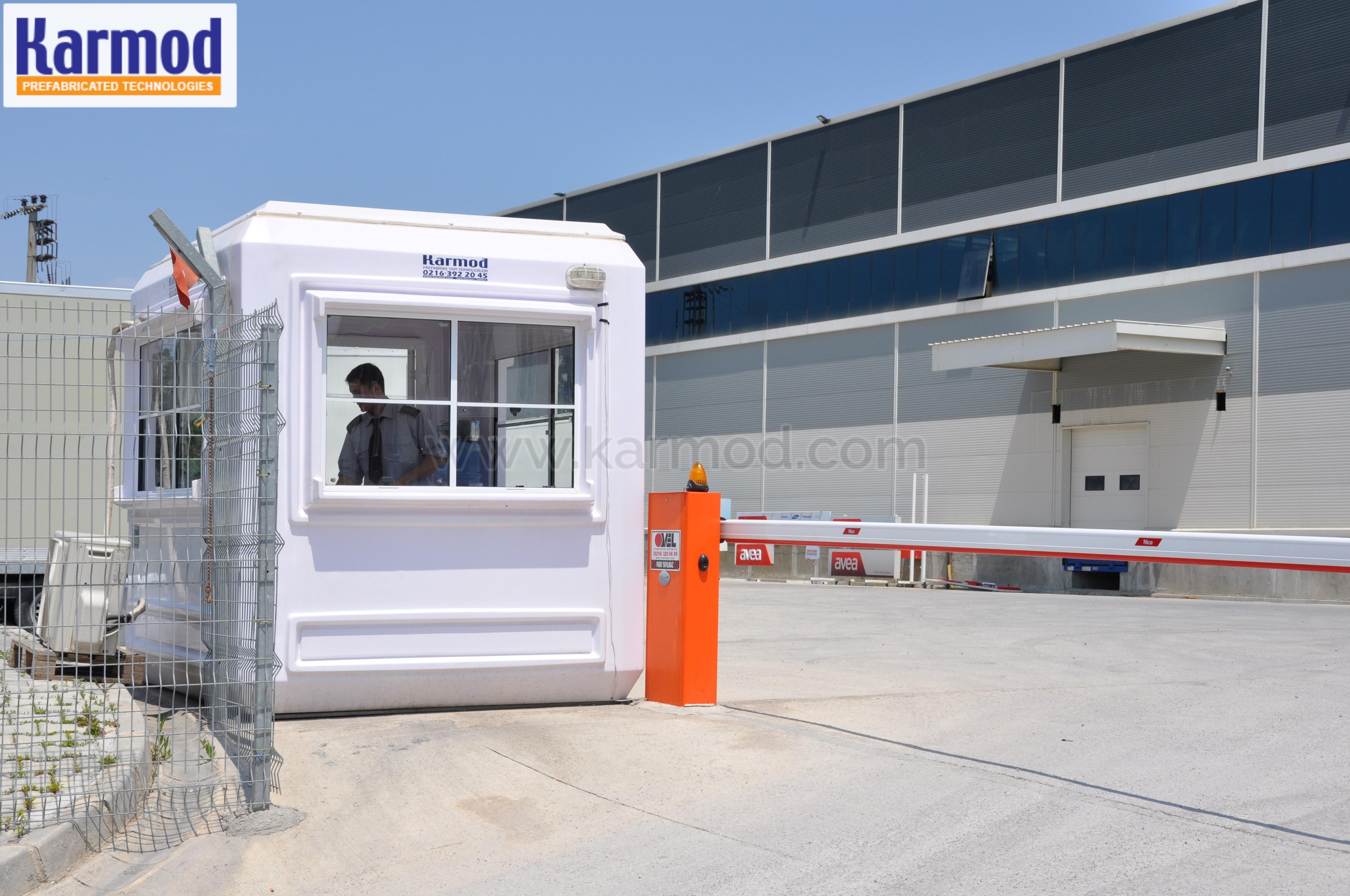 parking lot attendant booths