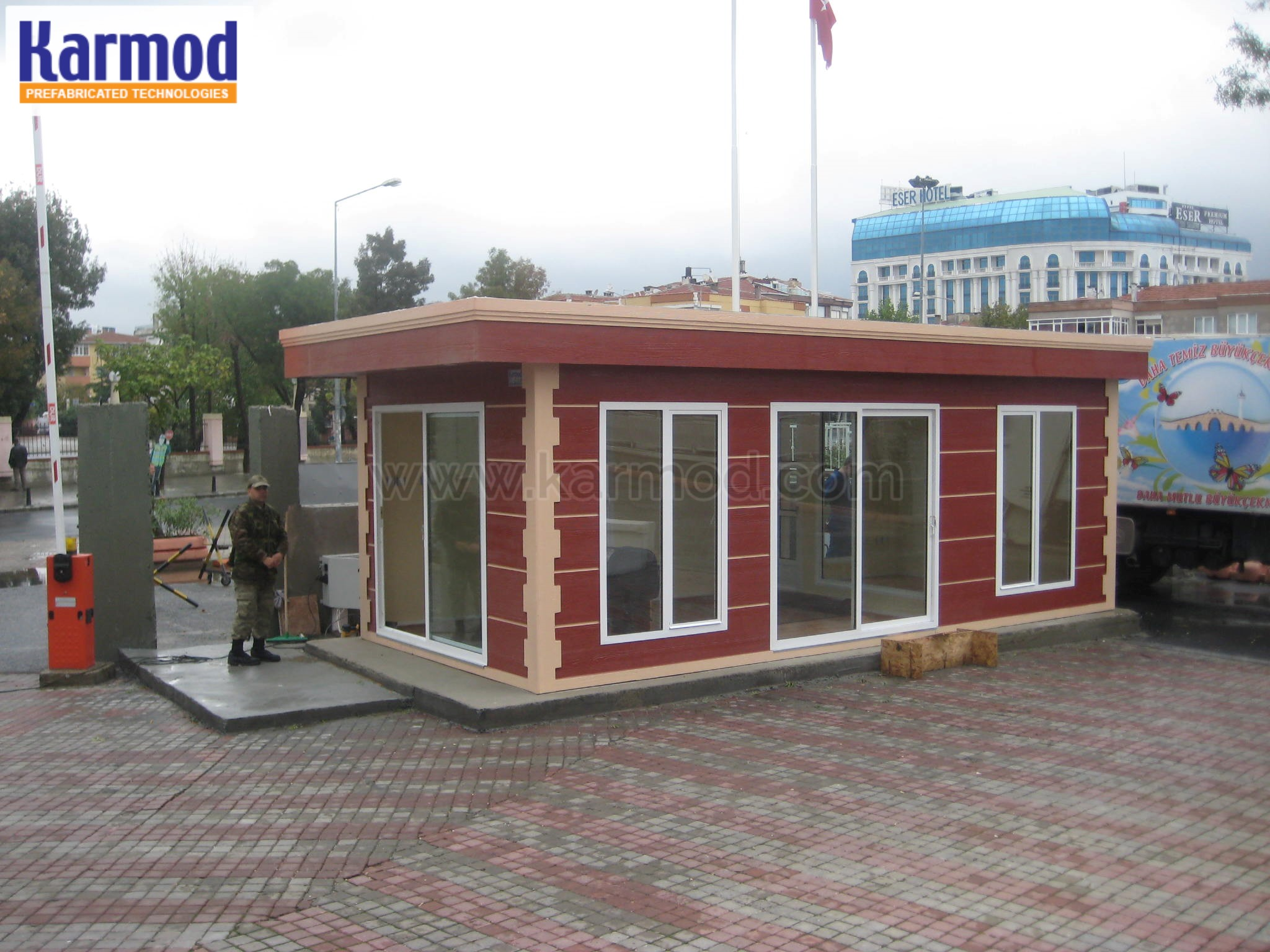 prefabricated control booths