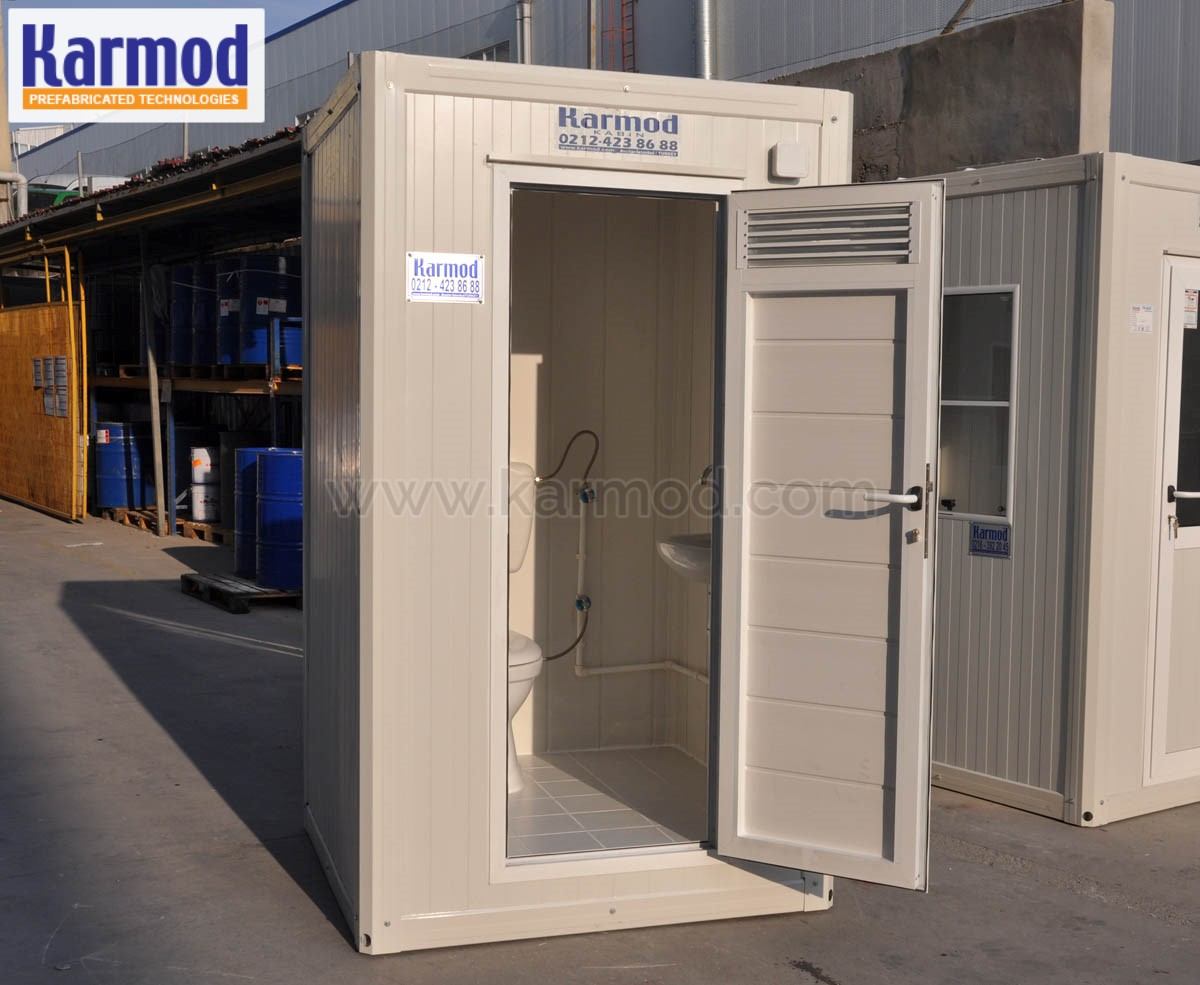 Restrooms Toilets Containers