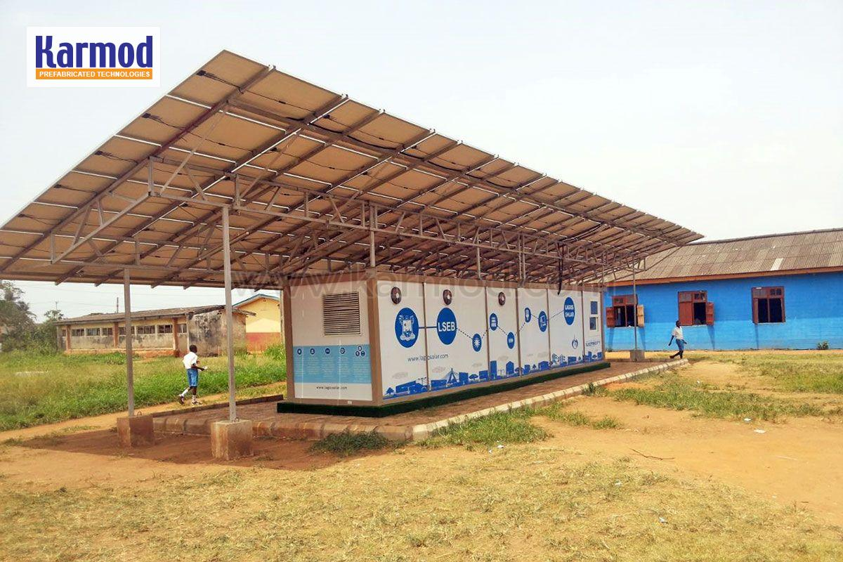 solar panel portakabin