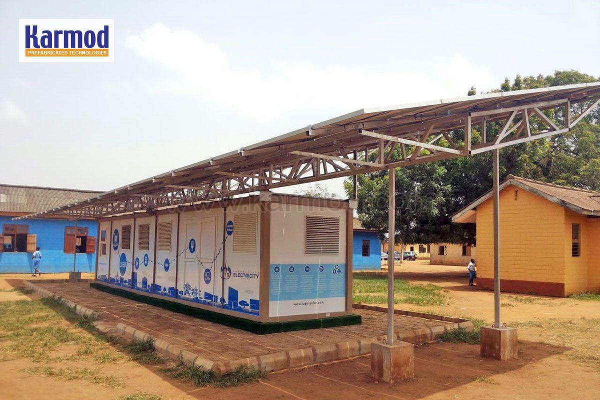 solar panel container