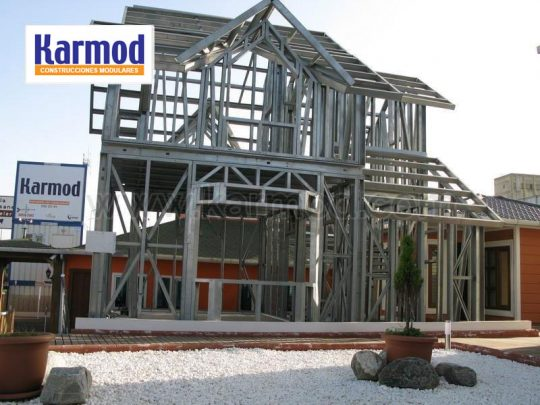 Steel frame house