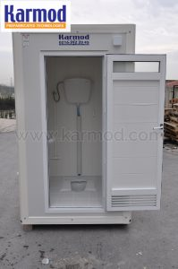 frp fiber mobile toilet india