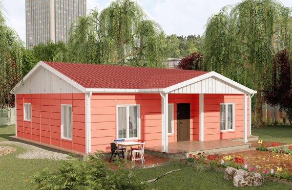 100 m2 Single Story Large Modular Houses