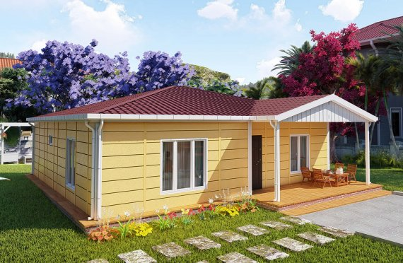 103 m2 Modular House with Veranda