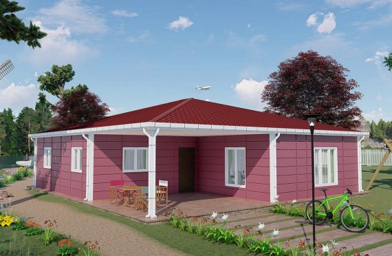 123 m2 Summer Modular Homes