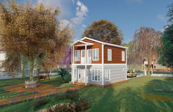126 m2 Tidy look Duplex Prefab Homes