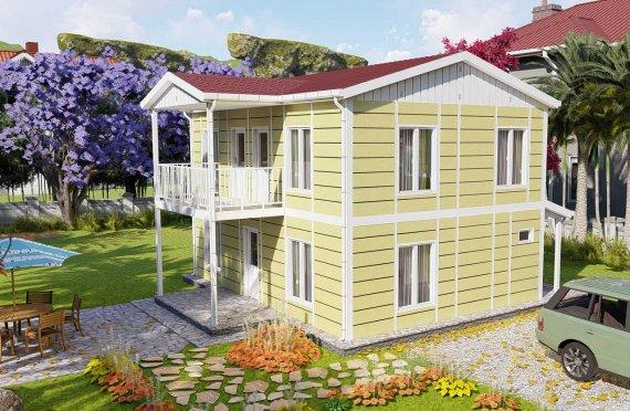 128 m2 Aesthetic Prefab Homes
