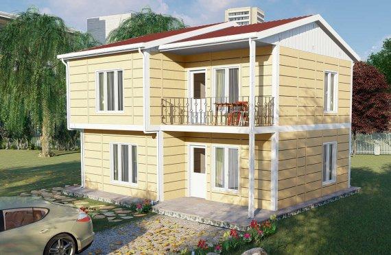 137 m2 Community Prefab House