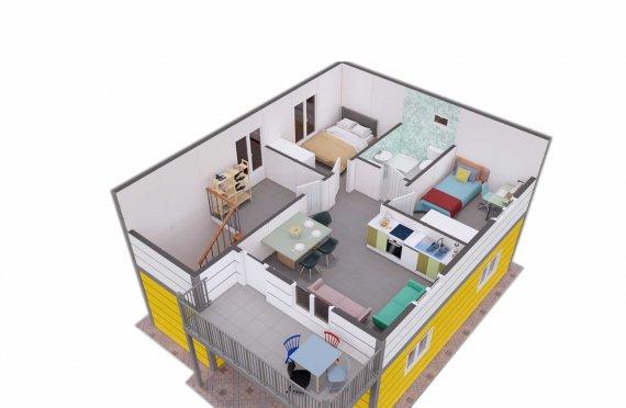 137 m2 Modest Prefab House