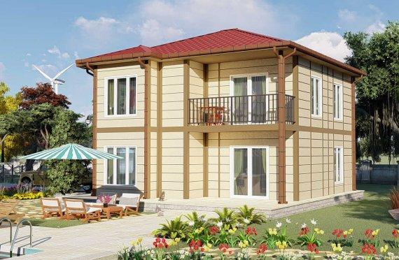 138 m2 Modest Prefab House
