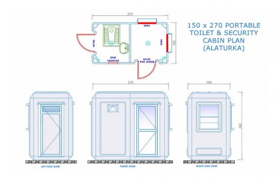 150 x 270 Wc - Shower Cabin