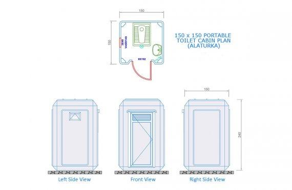 150x150 Wc - Shower Cabin
