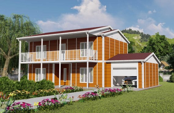 196 m2 Large Double Story Prefab Homes