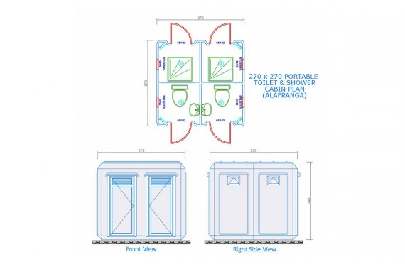 270 x 270 Wc - Shower Cabin