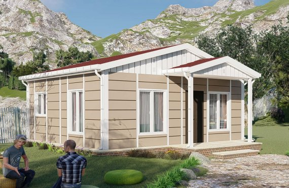 45 m2 Nostalgia Single Story Modular Homes