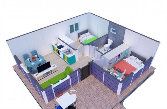 51 m2 Tiny Prefab Single Story House