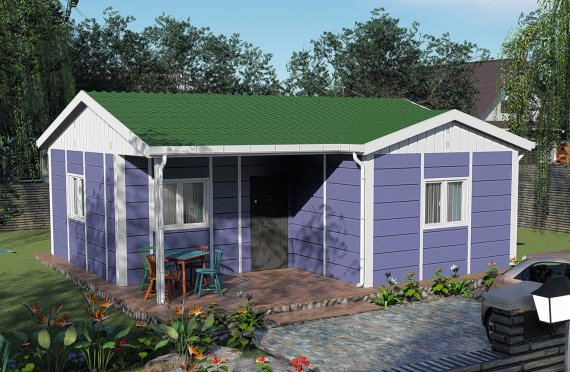 51 m2 Tiny Single Story Modular Homes
