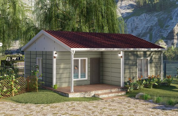 64 m2 Single story Willow Model Prefab House