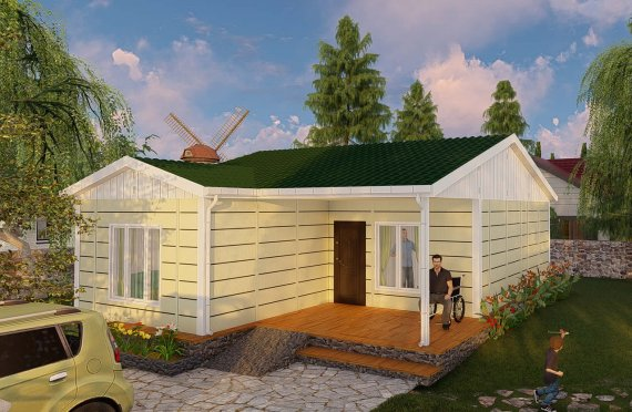 73 m2 Modular Mountain homes