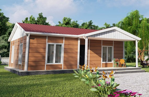 75 m2 Modular Houses with veranda